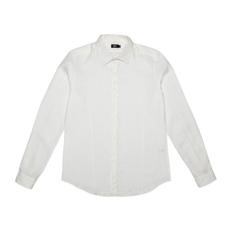 Regular Collared Shirt White